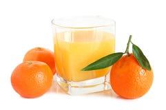 Spremuta dolce dei mandarini Immagine Stock