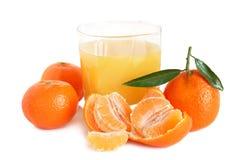 Spremuta dolce dei mandarini Fotografia Stock