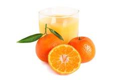 Spremuta dolce dei mandarini Immagini Stock Libere da Diritti