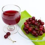 Spremuta fresca della ciliegia Fotografia Stock Libera da Diritti
