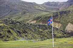 Sprengisandur, плато гористой местности в Исландии Стоковое Изображение RF