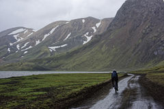 Sprengisandur, плато гористой местности в Исландии Стоковые Изображения