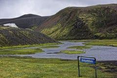 Sprengisandur, плато гористой местности в Исландии Стоковые Фото