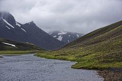Sprengisandur, плато гористой местности в Исландии Стоковое Изображение