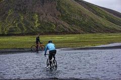 Sprengisandur, плато гористой местности в Исландии Стоковые Фотографии RF