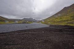Sprengisandur, плато гористой местности в Исландии Стоковое фото RF