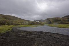 Sprengisandur, плато гористой местности в Исландии Стоковые Изображения RF