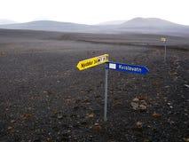 Sprengisandur, centraal IJsland Stock Afbeelding