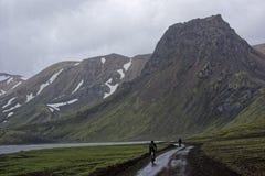 Sprengisandur, górski plateau w Iceland Obraz Royalty Free