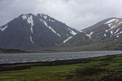 Sprengisandur, górski plateau w Iceland fotografia stock