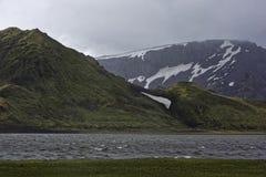 Sprengisandur, górski plateau w Iceland Obraz Stock