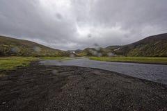 Sprengisandur, górski plateau w Iceland Zdjęcie Royalty Free