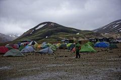 Sprengisandur höglands- platå i Island Fotografering för Bildbyråer