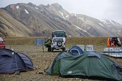 Sprengisandur höglands- platå i Island Arkivfoton