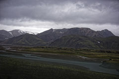 Sprengisandur höglands- platå i Island arkivbilder