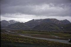 Sprengisandur höglands- platå i Island Arkivfoto