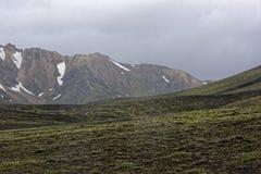 Sprengisandur höglands- platå i Island arkivbild