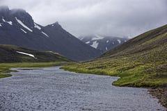 Sprengisandur höglands- platå i Island Royaltyfri Foto