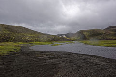 Sprengisandur, Hochlandhochebene in Island Lizenzfreie Stockbilder