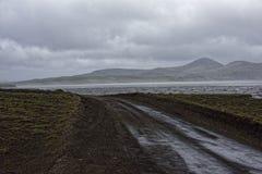 Sprengisandur, platô das montanhas em Islândia Fotografia de Stock Royalty Free
