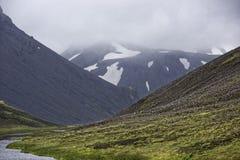 Sprengisandur, platô das montanhas em Islândia Fotos de Stock
