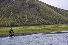 Sprengisandur, platô das montanhas em Islândia Fotografia de Stock