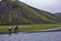 Sprengisandur, platô das montanhas em Islândia Foto de Stock