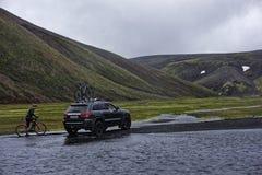 Sprengisandur, platô das montanhas em Islândia Imagens de Stock