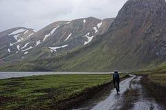 Sprengisandur, plateau des montagnes en Islande images stock