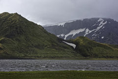 Sprengisandur, plateau des montagnes en Islande Image stock
