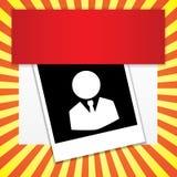 Sprengte saubere Zahlfahne des modernen Designs auf Gelb den Hintergrund, der für Websiteplan benutzt wurde Infographic Lizenzfreies Stockbild