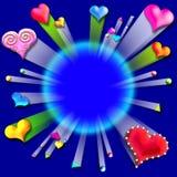 Sprengung frame4 des Liebes-Valentinsgrußes Stockfoto