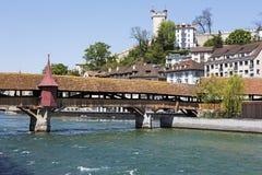 Spreuer桥梁在市卢赛恩 免版税库存图片
