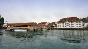 Spreuer Bridge in Lucerne, Switzerland Royalty Free Stock Image