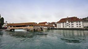 Spreuer most w lucernie, Szwajcaria obraz royalty free