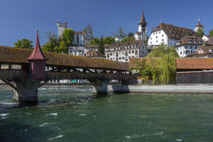 Spreuerbrucke -琉森-瑞士 免版税图库摄影