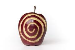 sprial äpple royaltyfria foton