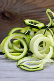 Sprialized zucchini Arkivfoton