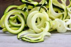 Sprialized zucchini Arkivfoto