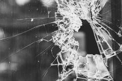 Spricka av det glass fönstret för bakgrund fotografering för bildbyråer