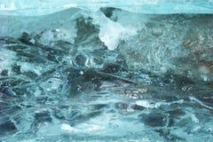 Spricka i isen Fotografering för Bildbyråer