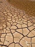 sprickor översvämmade mud Arkivfoton