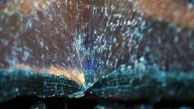 Sprickor av bilexponeringsglaset royaltyfri bild
