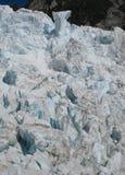 Sprickor i isen på Franz Joseph Glacier, Nya Zeeland arkivfoton