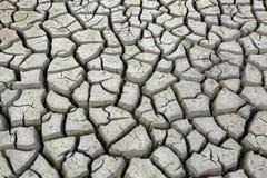Sprickor i jordning under torka för torr säsong Royaltyfri Fotografi
