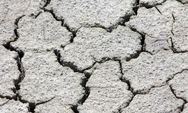 Sprickor på jord fotografering för bildbyråer