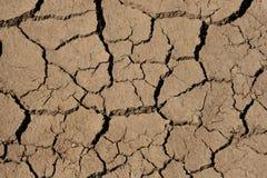 sprickor som torkar mud Fotografering för Bildbyråer
