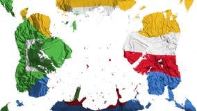 Spridd Comoros flagga royaltyfri illustrationer