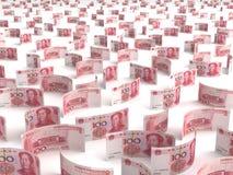 Spridd kines Yuan Arkivfoto
