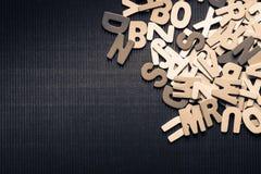spridda bokstäver Royaltyfri Bild